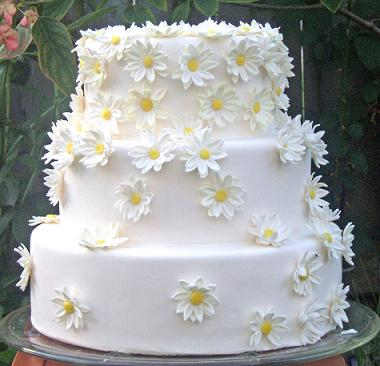 This daisy wedding cake was inspired by Martha Stewart Wedding 39s Sweet