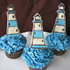Lighthouse Cupcakes