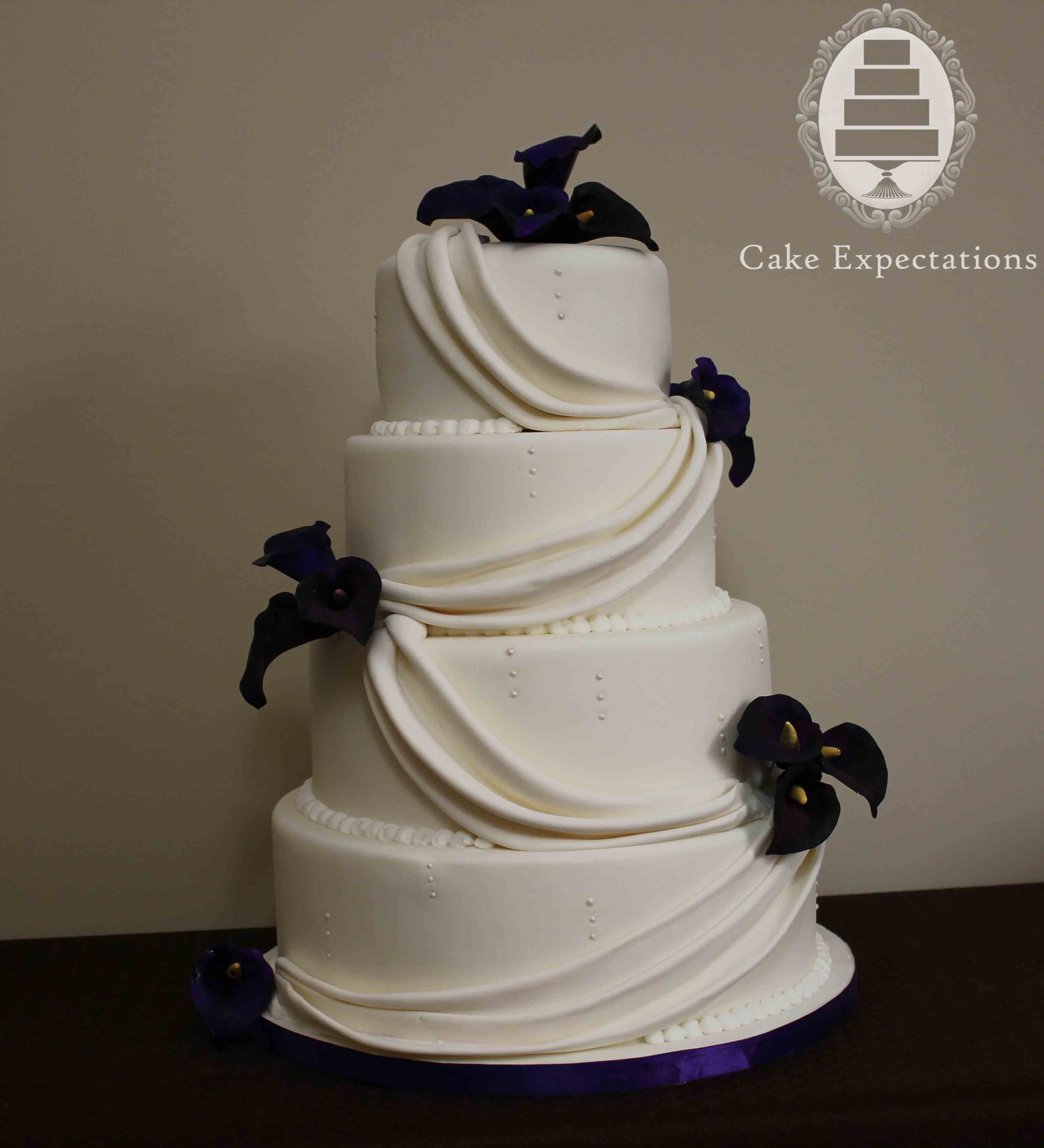 wedding cakes with calla lilies cake expectations www cakeexpectations ca 26000